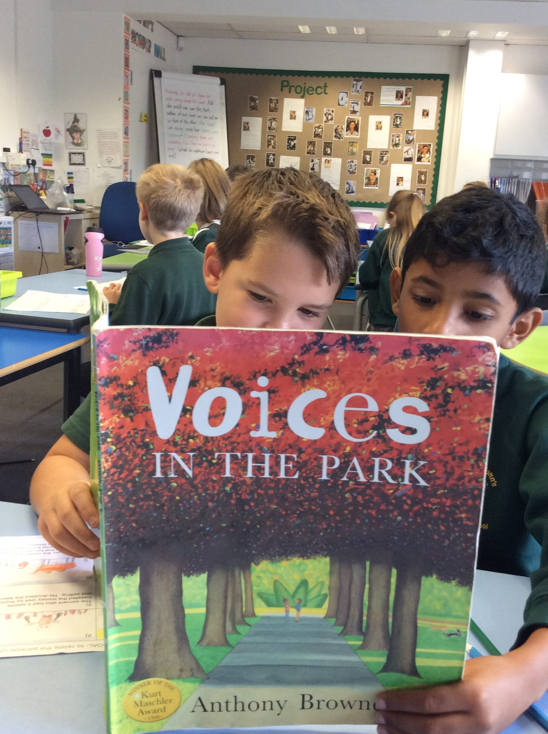 Voices in the park and a visit from a Dragon
